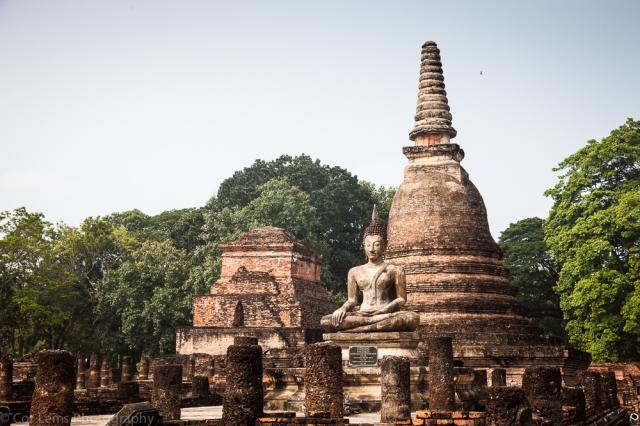 Buddha statue, Wat Mahathal, Sukothai Historical park, Sukothai,