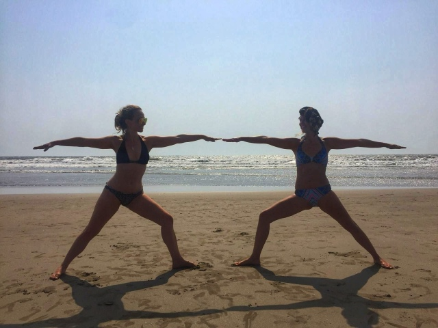 Yoga on Mandrem beach