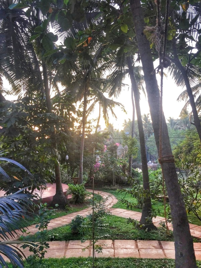 Inside Ashiyana yoga retreat, Mandrem Goa